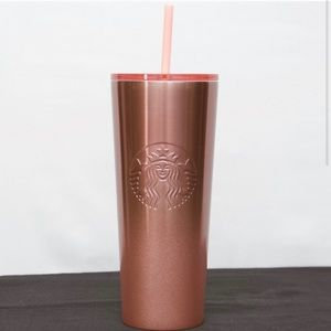 New Starbucks 2019 Rose Gold Pink Tumbler